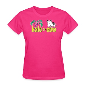 kale (is greater than) cow - Women's T-Shirt