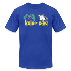 kale (is greater than) cow - Men's T-Shirt by American Apparel
