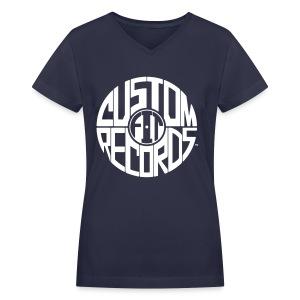 Women's v-neck t-shirt navy - Women's V-Neck T-Shirt