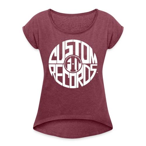 Women's rolled sleeve burgundy - Women's Roll Cuff T-Shirt