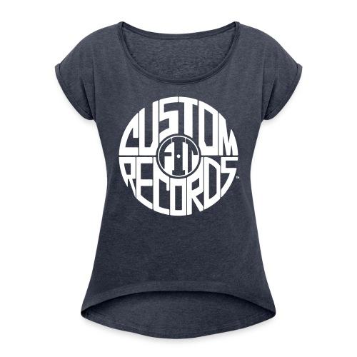 Women's rolled sleeve navy - Women's Roll Cuff T-Shirt
