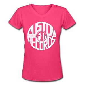 Women's v-neck t-shirt azalea - Women's V-Neck T-Shirt