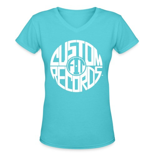Women's v-neck t-shirt aqua - Women's V-Neck T-Shirt