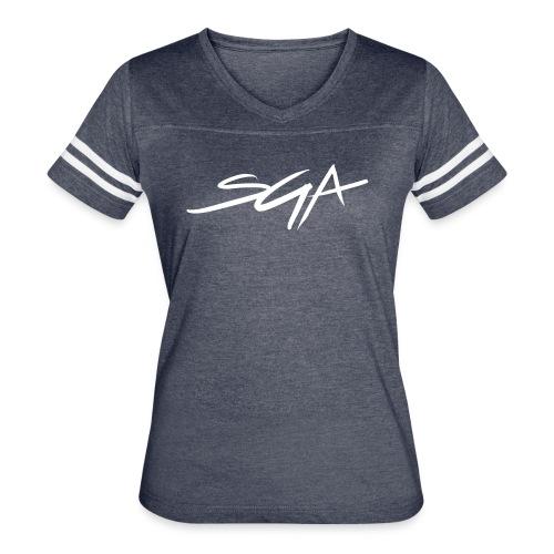 SGA Women's Grey Jersey Shirt  - Women's Vintage Sport T-Shirt