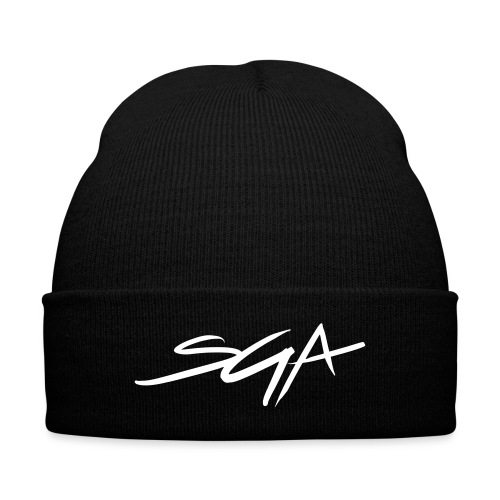 SGA Black Skully  - Knit Cap with Cuff Print