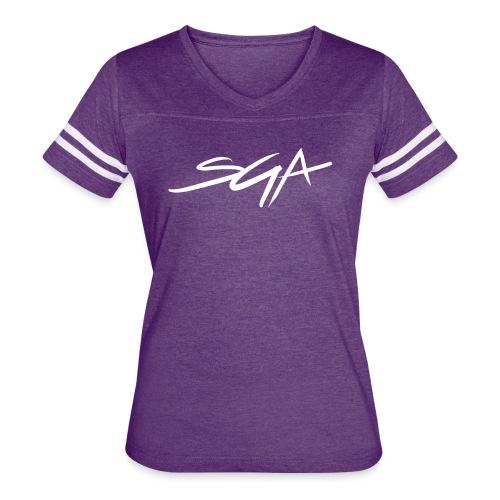 SGA Women's Purple Jersey Shirt  - Women's Vintage Sport T-Shirt