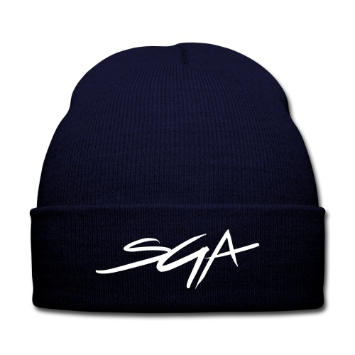 SGA Blue Skully  - Knit Cap with Cuff Print