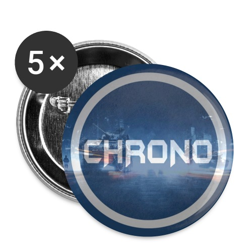 5 pack of small buttons with Chrono logo - Small Buttons