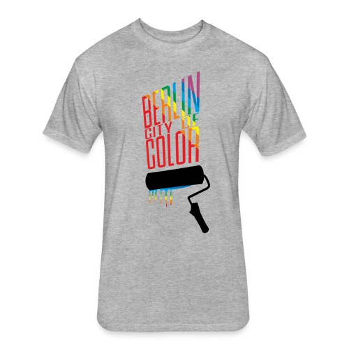 Berlin City of Color - Fitted Cotton/Poly T-Shirt by Next Level