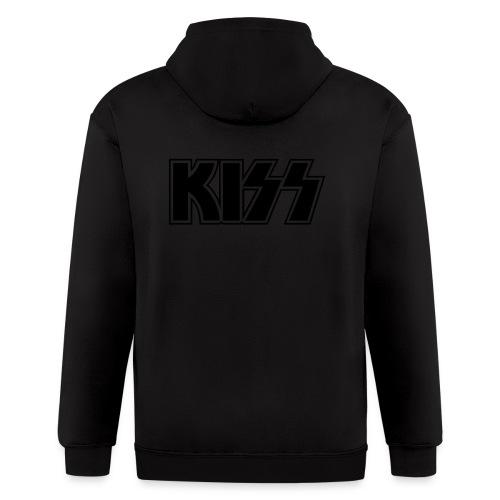 Black on Black (zip hoodie) - Men's Zip Hoodie