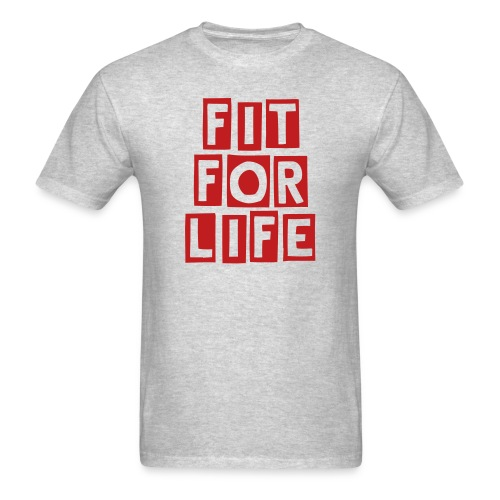 Fit for Life - Grey Tee - Men's T-Shirt