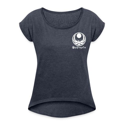 Nightingales - White - Women's Roll Cuff T-Shirt