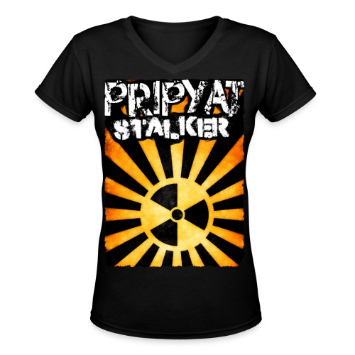 Pripyat Stalker - Women's V-Neck T-Shirt