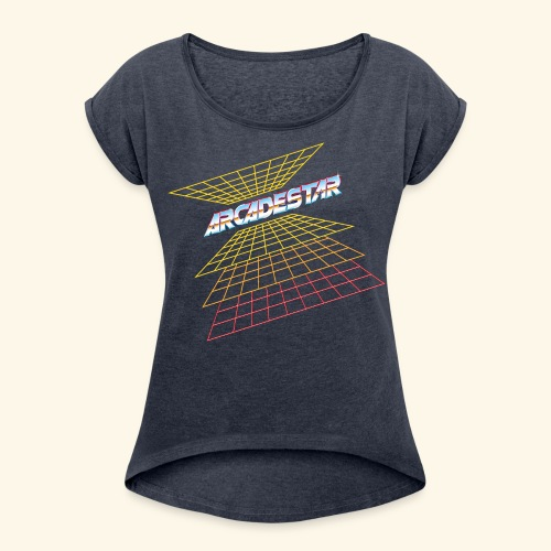 ArcadeStar - Women's Roll Cuff T-Shirt