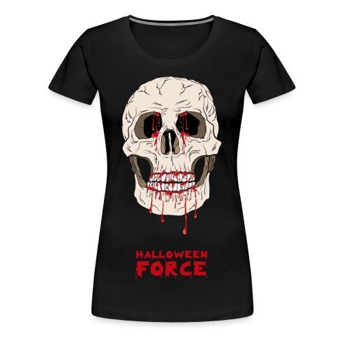 Halloween Bloody Skull  - Women's Premium T-Shirt