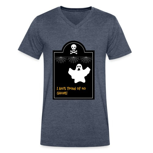 Afraid of ghosts - Men's V-Neck T-Shirt by Canvas