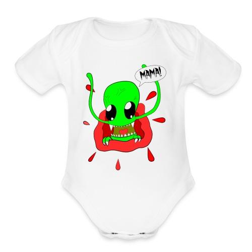 Alien-Mama - Organic Short Sleeve Baby Bodysuit