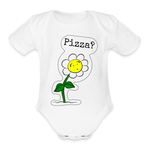 Sunflower-Pizza - Organic Short Sleeve Baby Bodysuit