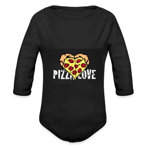 Pizza Love - baby - Organic Long Sleeve Baby Bodysuit
