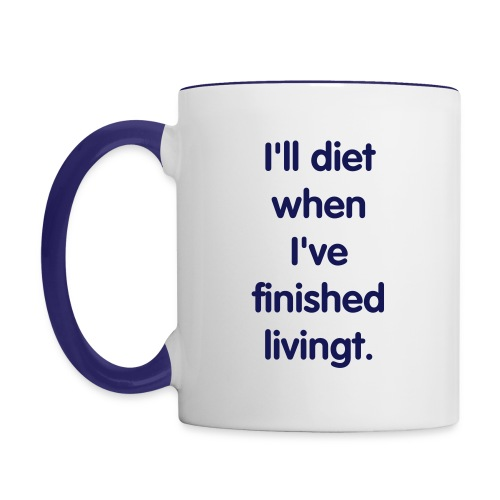 Diet Mug - Contrast Coffee Mug