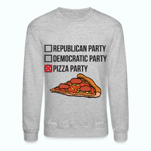 Men's Crewneck (NO VOTE) PIZZA PARTY - Crewneck Sweatshirt