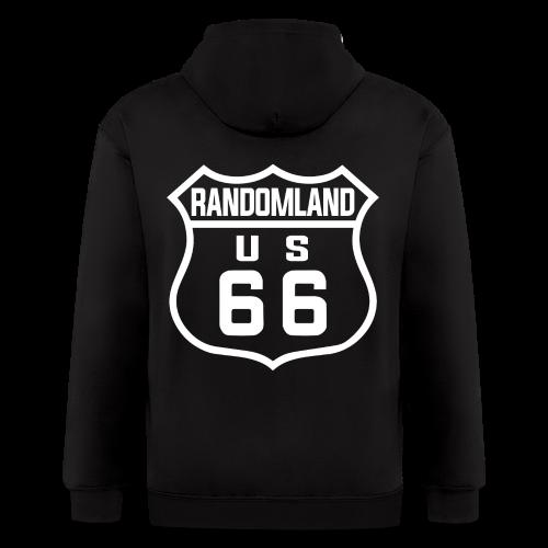Randomland Route 66 hoodie - Men's Zip Hoodie