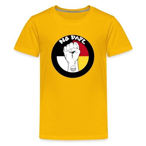 NoDAPL (Kids Tee)  bv Kardena Manycows - Kids' Premium T-Shirt