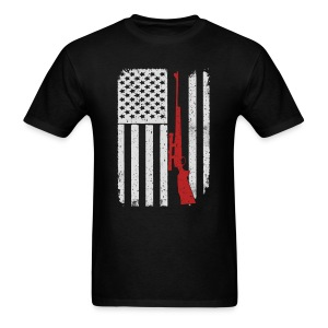 Deer Hunting Rifle Camo - America USA Flag T-Shirt T-Shirts - Men's T-Shirt