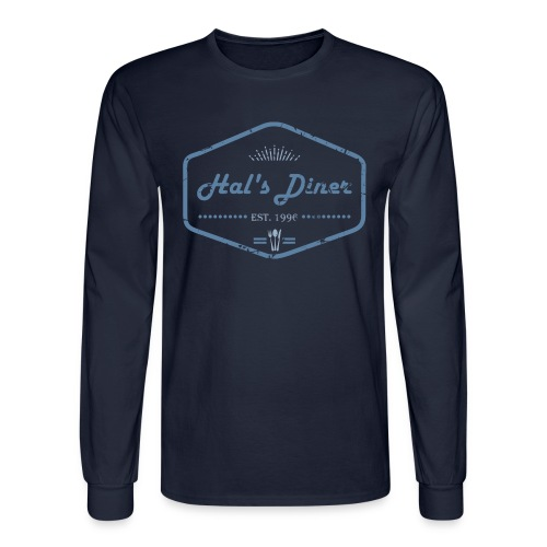 Hal's Diner | Men's long-sleeved Shirt - Men's Long Sleeve T-Shirt