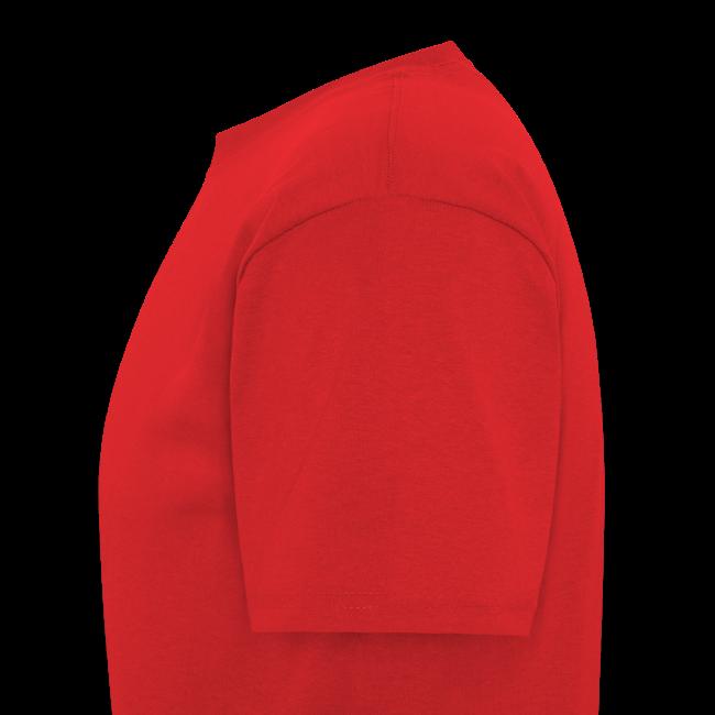 Men's Standard T- w/back & chest logo, name (Gold Glitz)