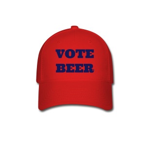 VOTE BEER Baseball Cap Red - Baseball Cap