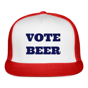VOTE BEER Trucker Cap White/Red - Trucker Cap