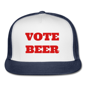 VOTE BEER Trucker Cap White/Navy - Trucker Cap