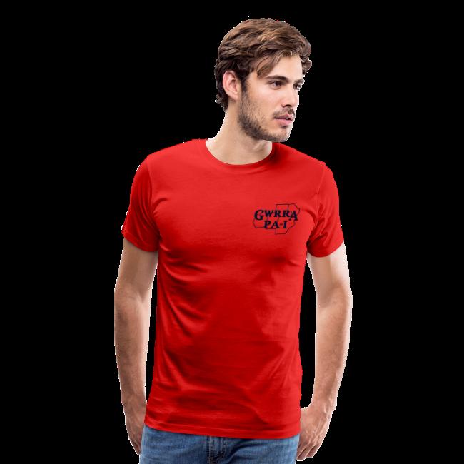Men's Premium T- w/back & chest logo, no name (Black Glitz)