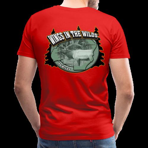 Men's Premium T- w/back & chest logo, no name (Black Glitz) - Men's Premium T-Shirt