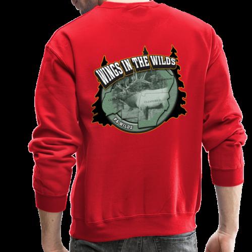 Men & Women's Sweatshirt- Back & chest logo (Black Glitz) - Crewneck Sweatshirt