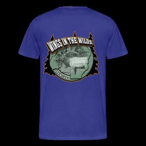 Men's Premium T- w/back & chest logo (Gold Glitz) - Men's Premium T-Shirt