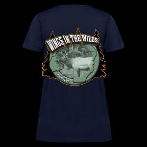 Women's Standard T- w/back & chest logo (Gold Glitz) - Women's T-Shirt