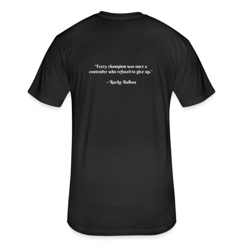 Move360- Rocky Quote - Fitted Cotton/Poly T-Shirt by Next Level