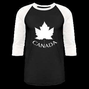 Canada Baseball Jersey B & W Canada Souvenir Shirts - Baseball T-Shirt