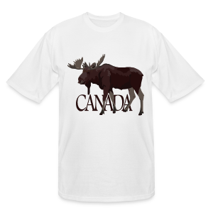Canada Moose Souvenir T-Shirts Men's Tall - Men's Tall T-Shirt