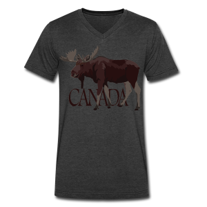 Canada Moose Souvenir T-Shirts Men's - Men's V-Neck T-Shirt by Canvas