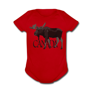 Canada Moose Souvenir Baby One Piece  - Short Sleeve Baby Bodysuit