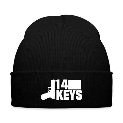 14 Keys Logo Beanie (White Logo) - Knit Cap with Cuff Print