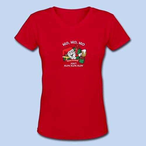 Ho Ho Ho Women's Tee - Women's V-Neck T-Shirt