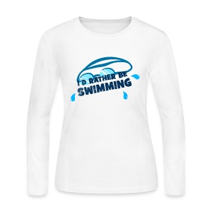 I'd Rather Be Swimming - Women's Long Sleeves - Women's Long Sleeve Jersey T-Shirt