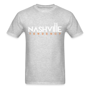 Mens T Grey with White and Orange - Men's T-Shirt