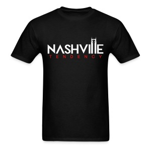 Mens T Black with White and Red - Men's T-Shirt