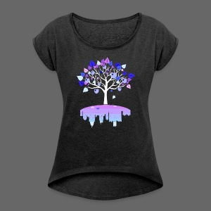 Detroit Winter Tree - Women´s Rolled Sleeve Boxy T-Shirt