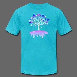 Detroit Winter Tree - Men's T-Shirt by American Apparel
